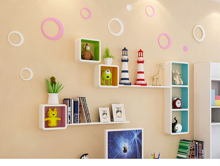 Durable Modern Wall Mounted Cube Shelf Living Room Decoration Cs008 Welcome To Esshelf