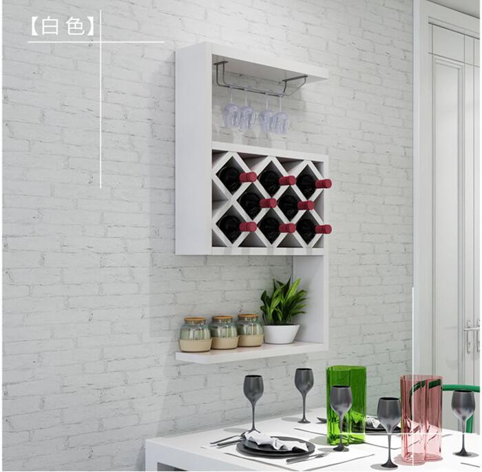 wall hanging wine rack wood