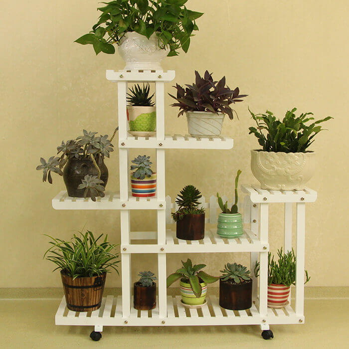 Multi Tier Stable Wooden Flower Pot Holder Wooden Indoor Plant Stand Fs016 Welcome To Esshelf